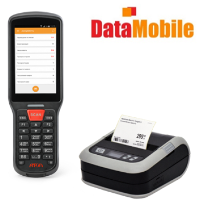 Комплект АТОЛ SMART.Lite+ПО DataMobile (Стандарт Pro+ Маркировка) + Моб.принтер АТОЛ XP323B